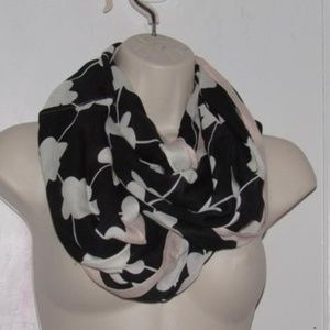 Kate Spade Pink Black White Silk Vintage Wrap
